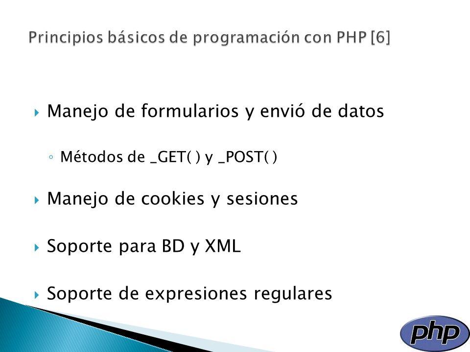Principios básicos de programación con PHP [6]